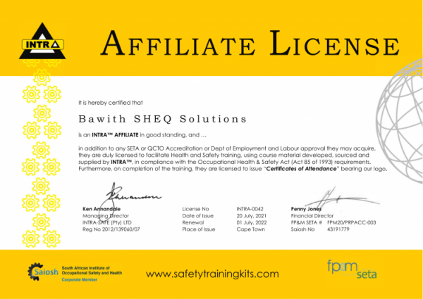 2022 INTRA Affilitate License Bawith SHEQ Solutions e1626790273772